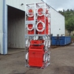 Climatisseur portable rack transport protectection