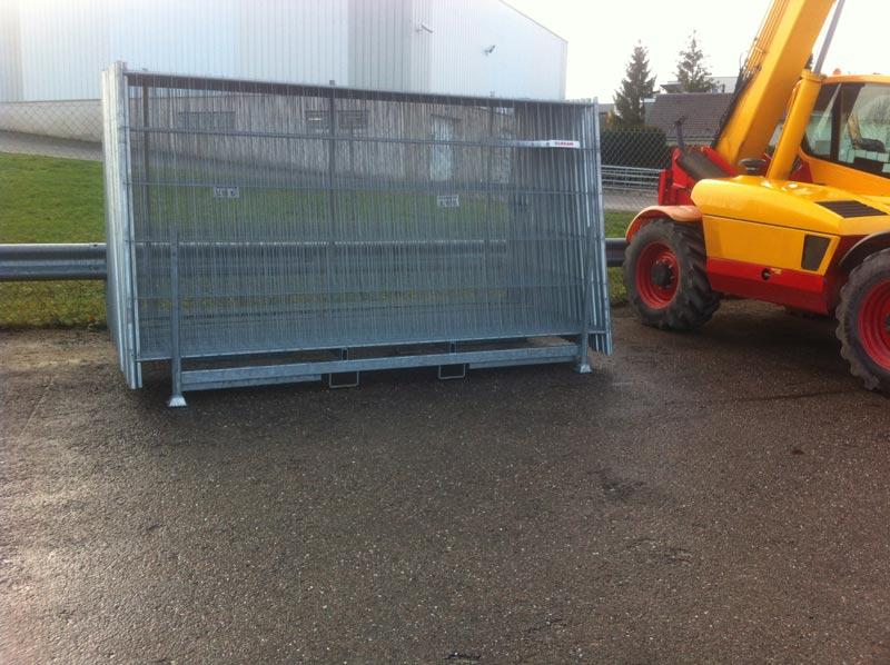 rack présentoir barrière de chantier